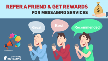 Reffer a friend for messaging services