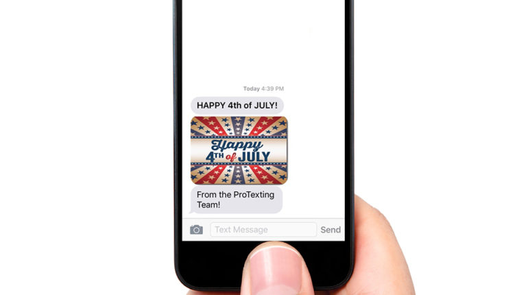 Happy 4th messaging