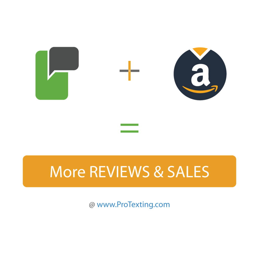 Increase your Amazon reviews and sales via SMS Messaging