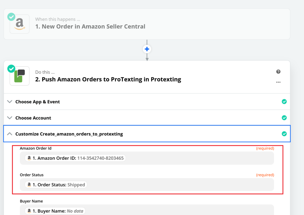 How to integrate Zapier and Amazon Seller Account for Text Messaging